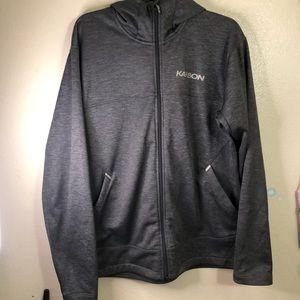 Karbon Fleece Full Zip Hoodie, Gray, Size XL
